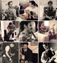 The actor Colin O Donoghue playing the guitar