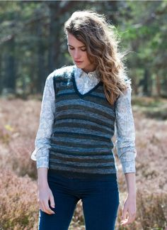 could DIY my cashmere sweater-Mohair Stripy Tank - Women's Jumpers | Brora