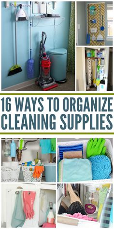 Clever Ways to Organize Cleaning Supplies.' (via DIY House Hacks - One Crazy House) Storing Cleaning Supplies, Cleaning Supply Storage, Kitchen Storage Hacks, Cleaning Closet, Bathroom Cleaning, Diy Cleaning Products, Diy Storage, Bathroom Storage, Cleaning Tips