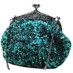 Amazon.com: Chicastic Fully Sequined Mesh Beaded Antique Style Wedding... ($30) ❤ liked on Polyvore featuring bags, handbags, clutches, purses, sequin, beaded purse, blue handbags, beaded clutches, evening hand bags and sequin clutches