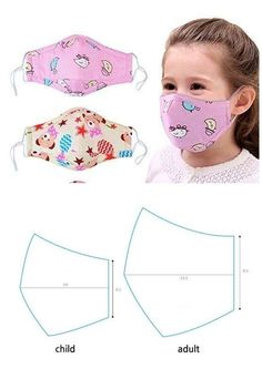 diy face mask for kids Sewing Hacks, Sewing Tutorials, Sewing Crafts, Sewing Projects, Easy Face Masks, Diy Face Mask, Homemade Face Masks, Techniques Couture, Sewing Techniques