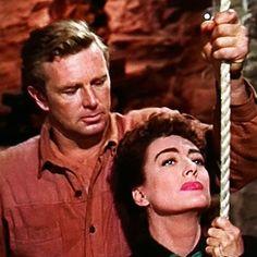 "Joan Crawford y Sterling Hayden en ""Johnny Guitar"", 1954 Sterling Hayden, Joan Crawford, Westerns, Couple Photos, Couples, Movies, Guitar, Couple Shots, Films"