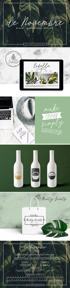 Signature script - de Novembre by Skyla Design on @creativemarket