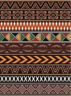 African Patterns vector art illustration