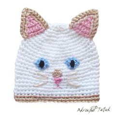 Tuque chat Himalayen / Himalayen flame point cat crochet hat