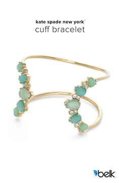 Isn't it amazing when you find a piece that just ties everything together? Whether you go for the mint or white, these kate spade new york® Seastone Sparkle Cuff Bracelets are the kind of accessory you'll find yourself making excuses to wear. Date nights, your friend's wedding, or anywhere you want that bit of effortless sparkle and elegance. Shop the entire Seastone Sparkle collection now at Belk.com.