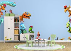 Fill any room with your favorite Dinosaur Train pals! #wallah #wallahrooms #dinosaur #train #kids