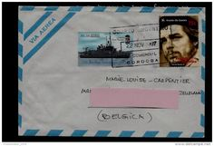 POSTAL USED COVER - ARGENTINA TO BELGIUM ( CHE GUEVARA - battle ship ) 1997 - Delcampe.net