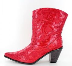 Short Sequin Bling Boots by SharksJewels on Etsy, $80.00