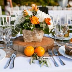 A destination wedding in Spain with lots of lush orange details.
