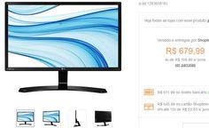 "Monitor IPS Full HD 238"" LG 24MP58VQ-P << R$ 61199 >>"