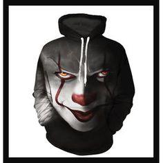 Hoodies & Sweatshirts Radient New Movie It Pennywise Clown Stephen King 3d Print Hoodies Horror Movie Hoody Sweatshirt Cosplay Sportswear Tracksuit