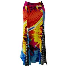 Preowned Important Gianni Versace Couture Pop Art Maxi Skirt Spring... ($7,500) ❤ liked on Polyvore featuring skirts, multiple, floor length skirts, red maxi skirt, long skirts, ankle length skirt and maxi skirt
