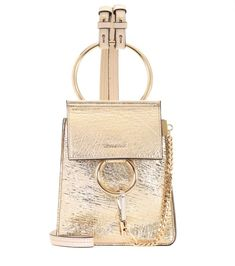 79ea286f5ea9 CHLOÉ Faye Small leather bracelet bag.  chloé  bags  shoulder bags  leather   lining  metallic