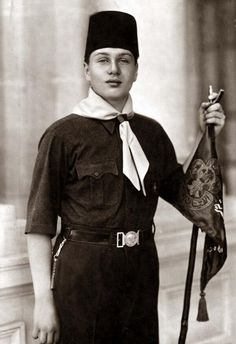 King Farouk. Very nice picture for King Farouk in white and black colours.