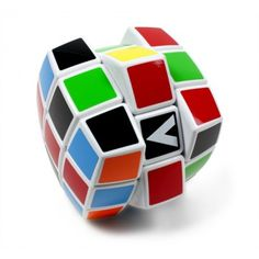 V-Cube 3. Streamlined, pillow-shaped version of the original 3×3×3 Rubik's Cube. Smooth rotation allows better movement through the 43 quintillion permutations. Helps spatial perception, problem-solving and patience.