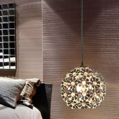 Light Pendant with Crystal Shade in Globular