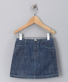 Take a look at this Navy Damine Skirt - Toddler & Girls by Alouette on #zulily today!