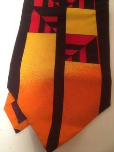 Rush Limbaugh No Boundaries Collection Gold Orange Red 100% Silk Neck Tie #RushLimbaugh #NeckTie
