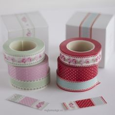 Greengate - My Home Style Washi Tape Storage, Washi Tape Diy, Masking Tape, Washi Tapes, Tapas, Cinta Washi, Packaging Supplies, Decorative Tape, Craft Supplies