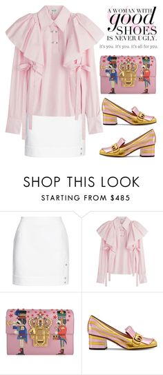 """""""BA134: Good shoes"""" by bugatti-veyron ❤ liked on Polyvore featuring Moschino, Kenzo, Dolce&Gabbana and Gucci"""