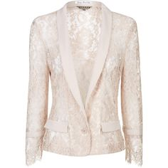 Jigsaw Unlined Lace Jacket found on Polyvore