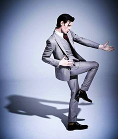 Whenever I see one of these Matt-Smith-makes-a-crazy-pose pins, I always imagine he falls over his own feet about three seconds after the photo is taken. <----- Now I'm laughing with the images of all his photos seconds after they were taken going through my head!