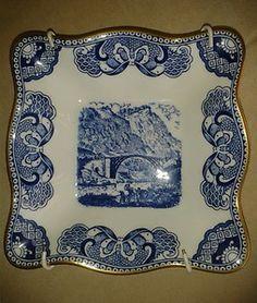 VINTAGE COALPORT BLUE & WHITE DISH - IRONBRIDGE GORGE 1779-1979 | eBay