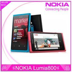 "original phone lumia 800 Windows Phone 3.7"" nokia Lumia 800 Mobile Phone ROM 16GB Camera 8.0MP Wifi GPS Bluetooth 3G cell phone #Affiliate"