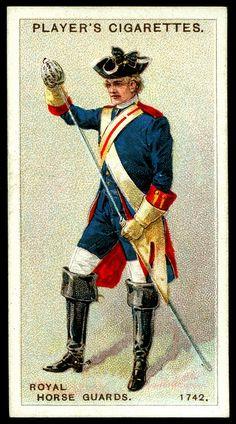 Cigarette Card - Royal Horse Guards, 1742
