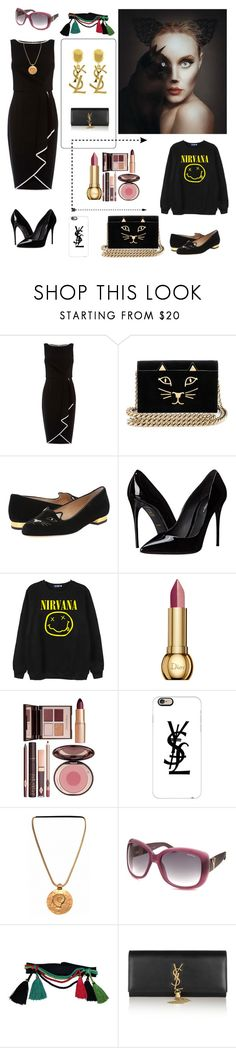 """Beaury is in the eyes of beholder"" by magic-mia ❤ liked on Polyvore featuring beauty, Coast, Charlotte Olympia, Dolce&Gabbana, Chicnova Fashion, Christian Dior, Charlotte Tilbury, Casetify and Yves Saint Laurent"