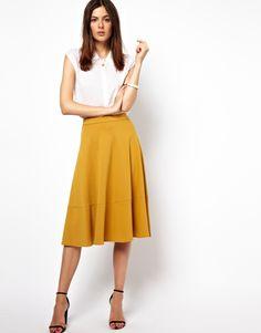midi skirt with pleats | fashion // MY STYLE | Pinterest | Full ...