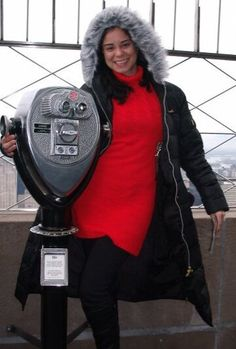 This pic is from the top of the Empire State Building in NYC! Christmas Season! #NewYork