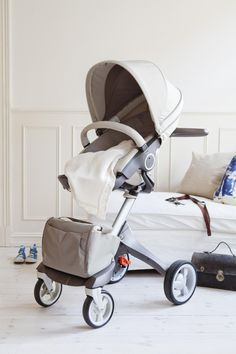 Stokke Xplory beige, such a cool stroller!