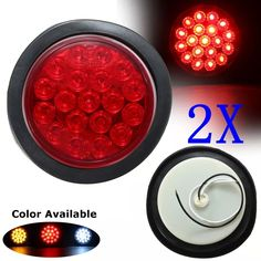 Online shopping for Red Yellow White 19 SMD Car Round Tail Lights Turn Singal Light ATV LED Reflectors Truck Side Marke Indicator Warning Lights. China Lights, Trailers For Sale, Car Lights, Tail Light, Atv, Markers, Red And White, Trucks, Yellow