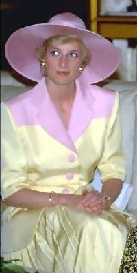 Diana in yellow and pink. Beautiful photo, gorgeous outfit, very…