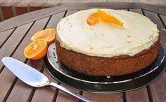Carrot Cake con cobertura de queso y naranja