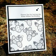 Mftstamps - sweet succulents  다육이 가득 ~ Black&white card #cards #로이공작소 #원데이클래스 #카드메이킹 #stamp #mftstamps