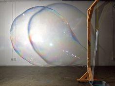 machine blowing bubbles