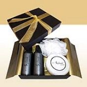 His Pamper Box - A male pamper box filled with refreshing liquid soap, body lotion, a mesh sponge and some muscle soak for those tired muscles. Liquid Soap, Body Lotion, Muscles, Tired, Mesh, Box, Gifts, Snare Drum, Presents