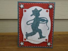 Crafting With Nana: Red White and Blue Cowboy Birthday Card