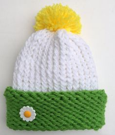 Daisy Hat Flower Hat Baby Photo Prop Daisy by JilleBeansCreations