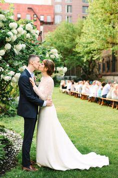 Bright, colorful New York City micro wedding - 100 Layer Cake 100 Layer Cake, Wedding Reception, Reception Ideas, Perfect Wedding, New York City, Bright, Colorful, Wedding Dresses, Inspiration