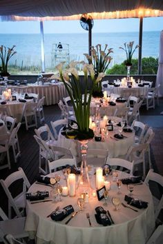 Our wedding reception. Calla lily centerpieces :) florist nailed it!