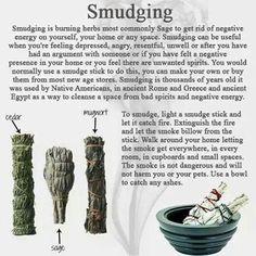 Smudging.