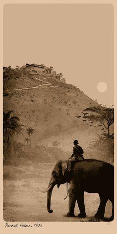 Indiana Jones and the Temple of Doom by Matt Ferguson - Home of the Alternative Movie Poster -AMP-