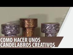 Como hacer unos candelabros creativos - YouTube