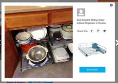Real Simple® Sliding Under-Cabinet Organizer in Chrome | kuchnia ...