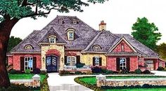 European Style House Plans - 3128 Square Foot Home , 1 Story, 3 Bedroom and 4 Bath, 3 Garage Stalls by Monster House Plans - Plan 8-489