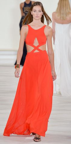The Stunning Dresses from #NYFW That We're Hoping to See on the Emmys Red Carpet - Ralph Lauren Collection  - from InStyle.com
